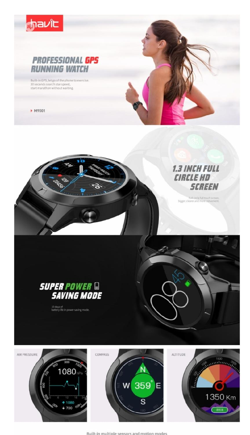 M9001C Havit Running Smart Watch GPS +Cellular | Smart Watches & Trackers for sale in Ikeja, Lagos State, Nigeria