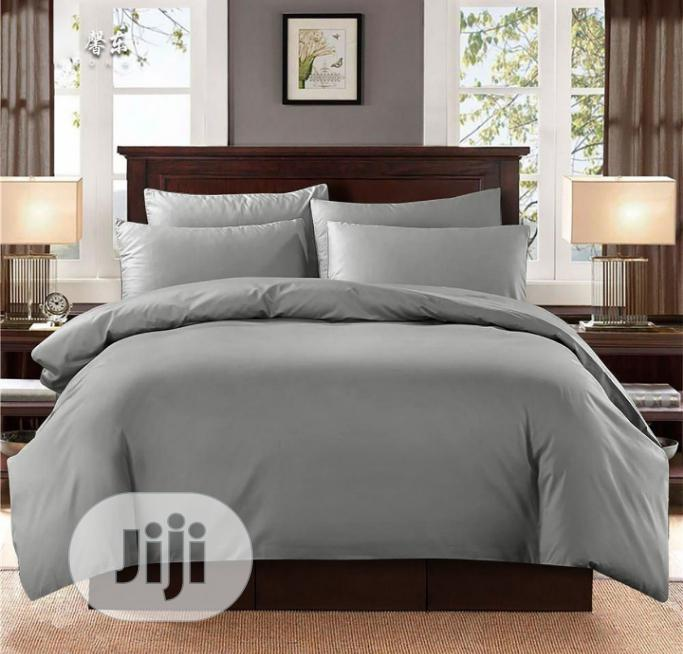 Grey Colour Duvet, Bedsheet And 4 Pillow Cases