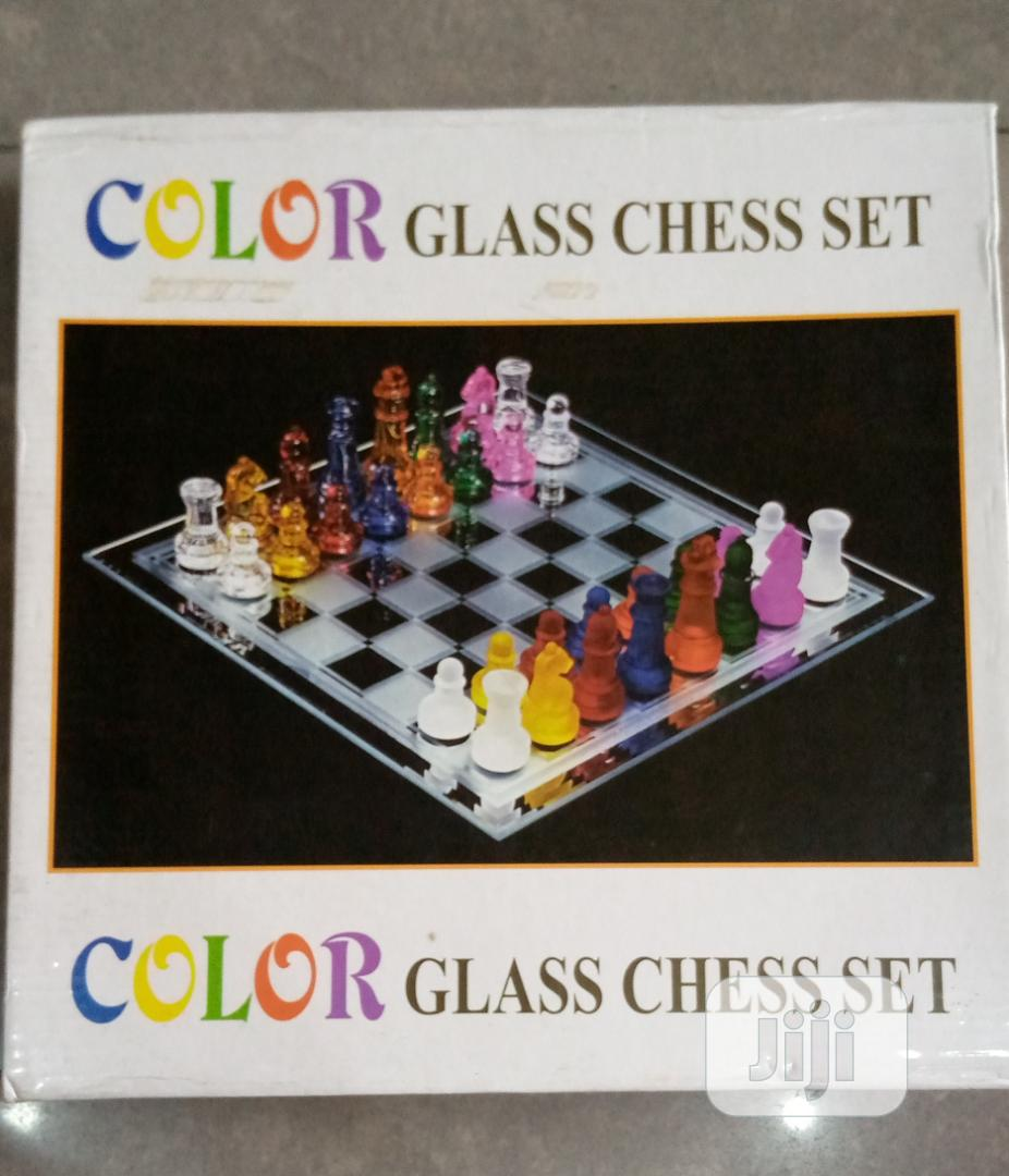 Color Glass Chess Set