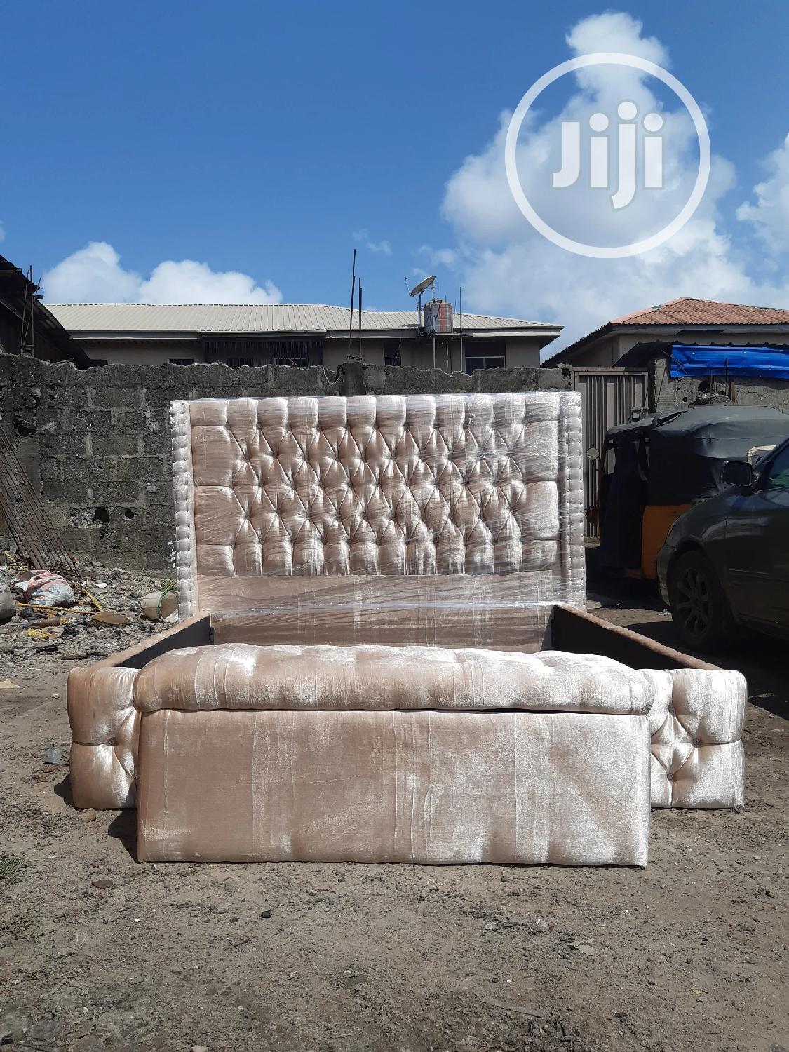6x6 Upholstery Bedframe | Furniture for sale in Ojo, Lagos State, Nigeria