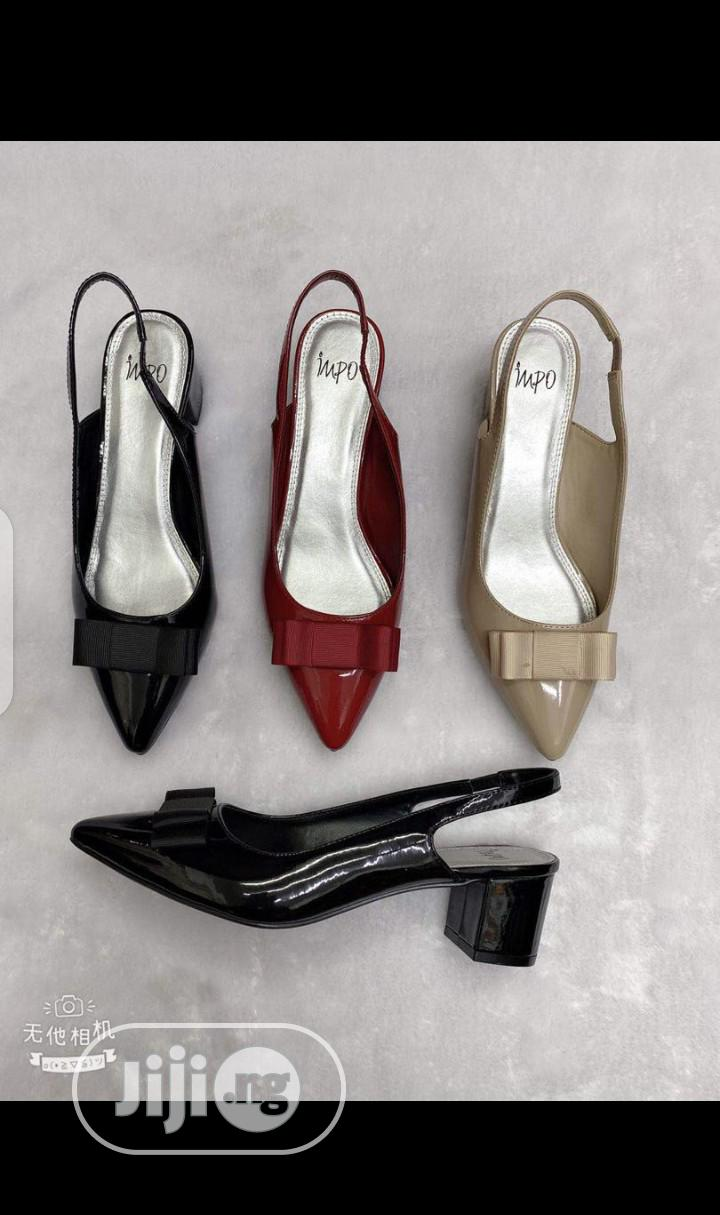 New Quality Female Leather Block Heel Shoes