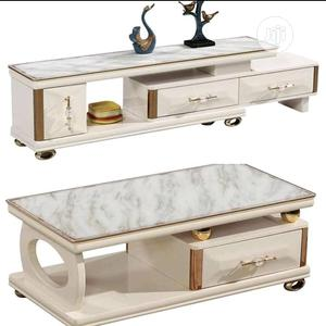 Marble Glass Tv Stand And Centre Table   Furniture for sale in Abia State, Aba North