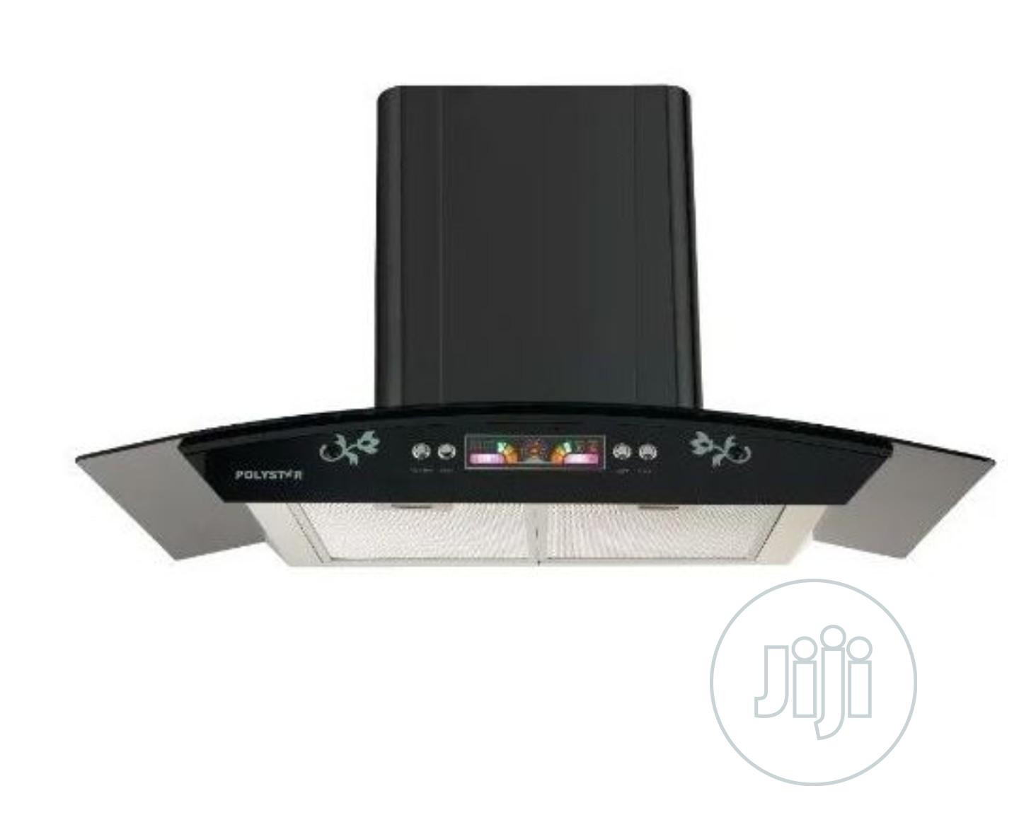 Polystar 90cm Digital Range Hood Tempered Glass PV-HA9003M