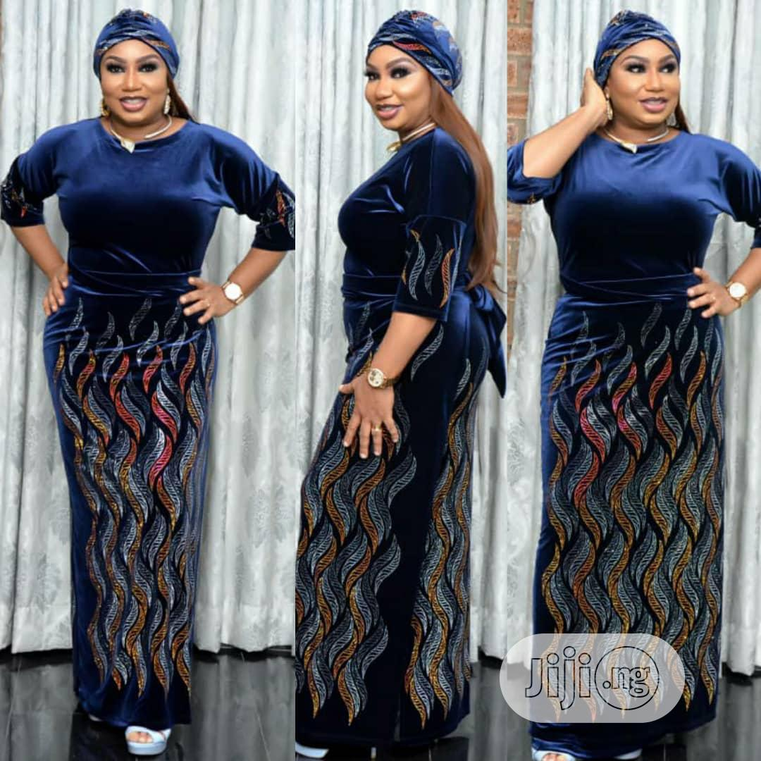 Sweet Suade Gown | Clothing for sale in Lagos Island, Lagos State, Nigeria