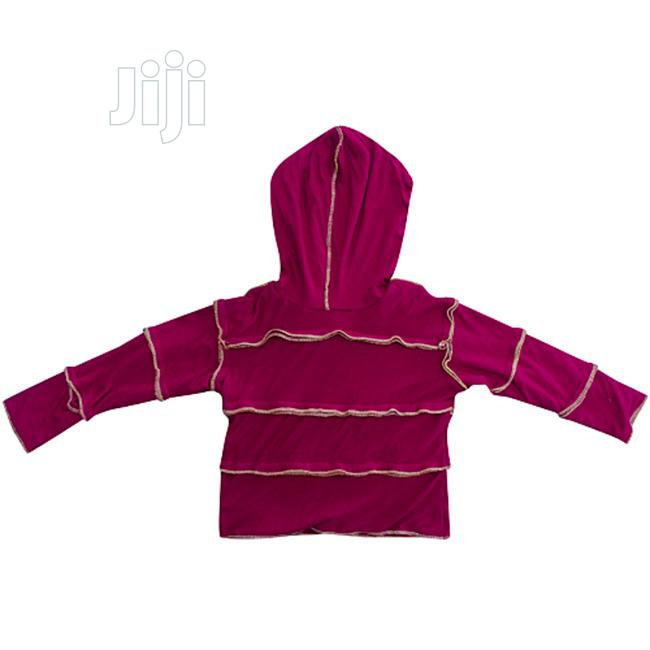 Ribbed Hooded T-Shirt for Kids