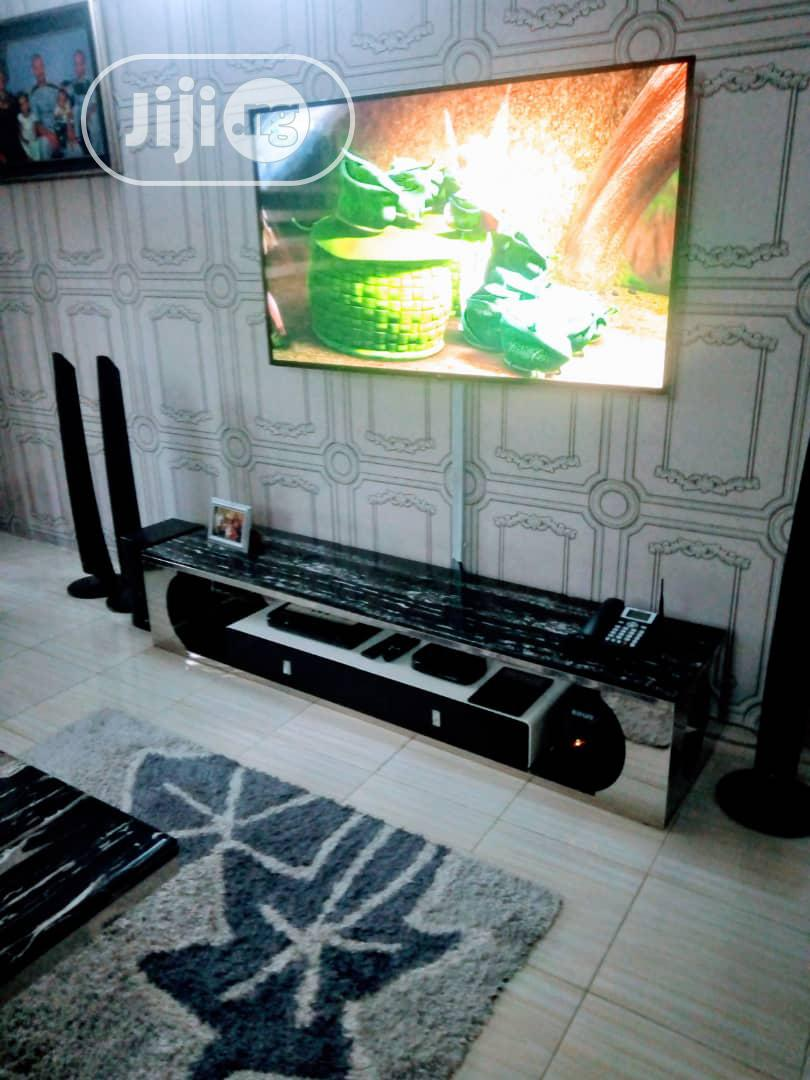 High Quality Stainless Steel And Pure Marble TV Stand