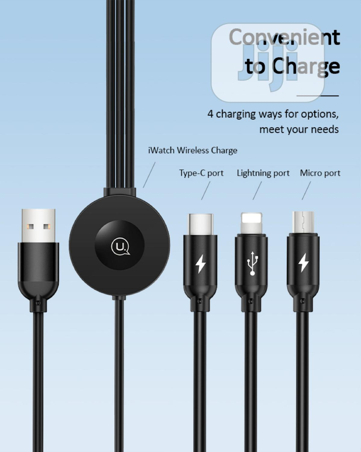 US-CC088 3IN1 USB Charging & Data Cable + Wireless Charger | Accessories & Supplies for Electronics for sale in Alimosho, Lagos State, Nigeria