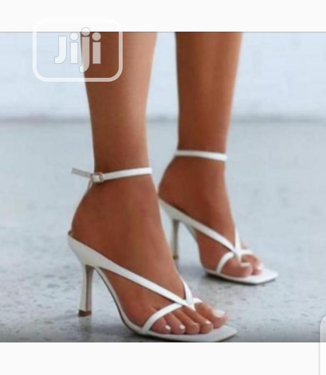 Bottegga White Ladies Heels Sandals in