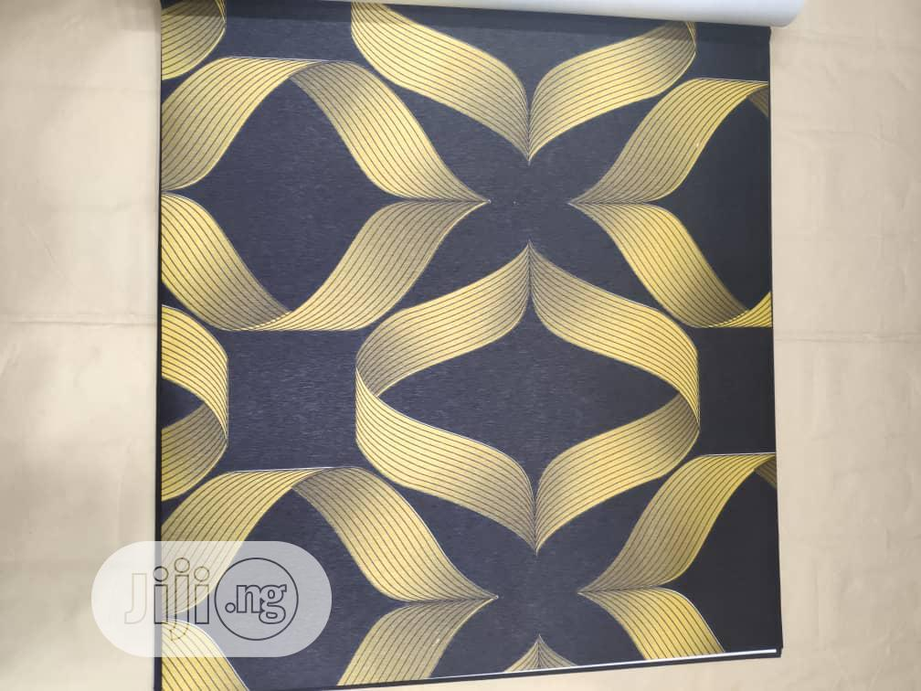 Wallpaper Gold Black
