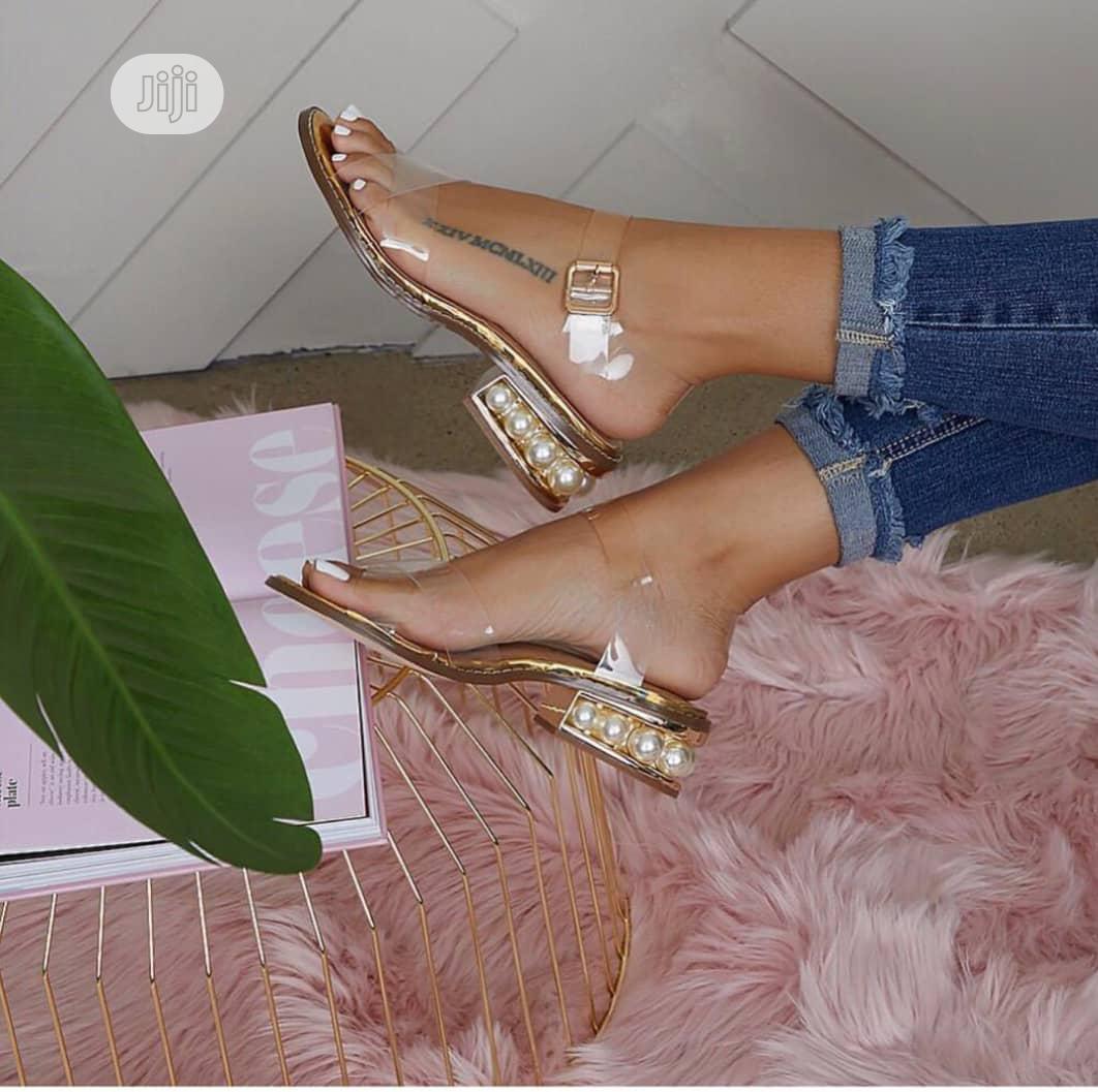 Ladies Gold Sandals