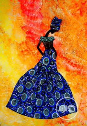 African Lady Mixed Media Artwork | Arts & Crafts for sale in Ogun State, Abeokuta South