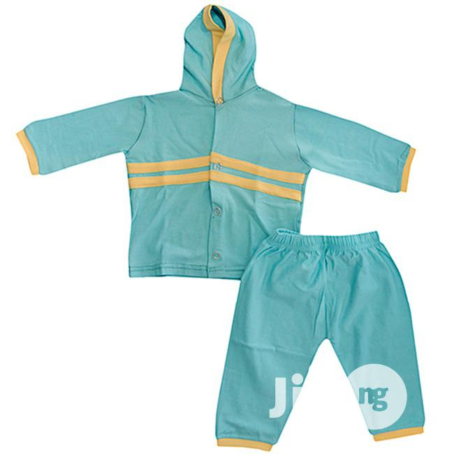 Hooded Short And Trousers For Kids