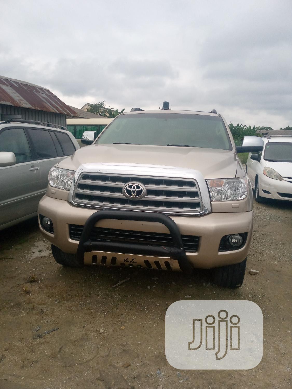 Toyota Sequoia 2008 Gold | Cars for sale in Sapele, Delta State, Nigeria