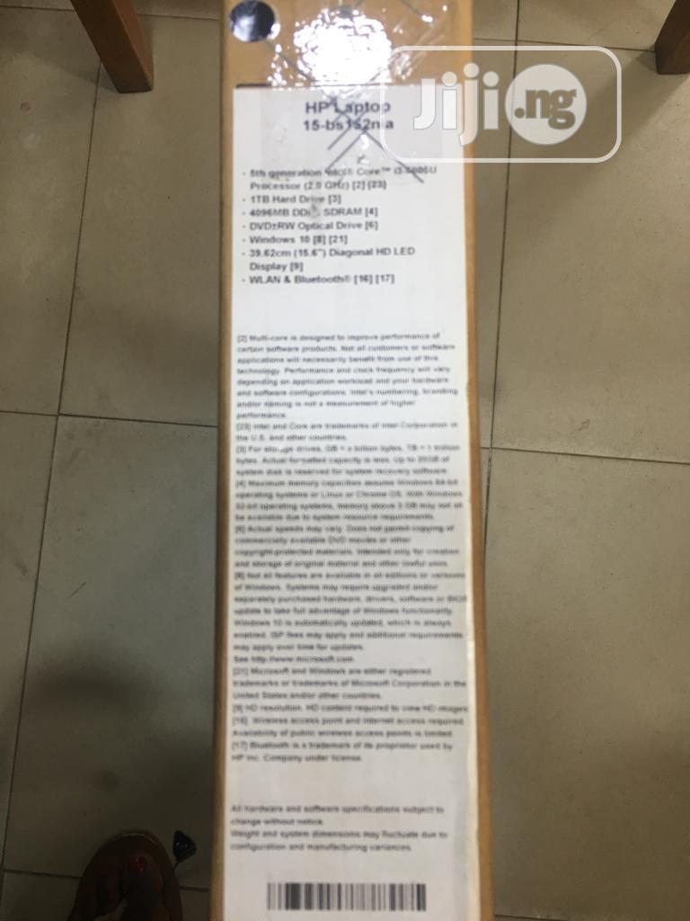 New Laptop HP 15-ra003nia 4GB Intel Core i3 HDD 1T