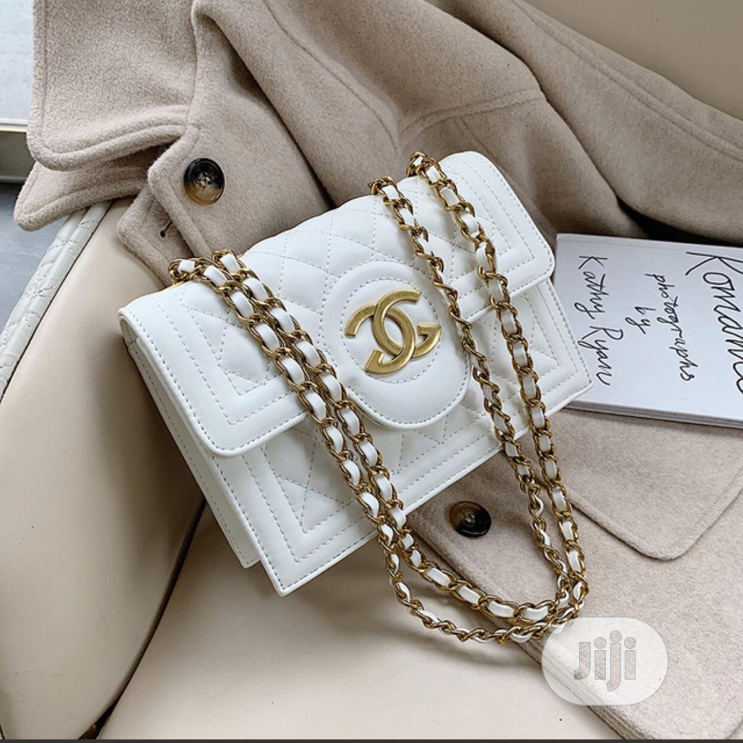 Original White Female Chanel Handbag