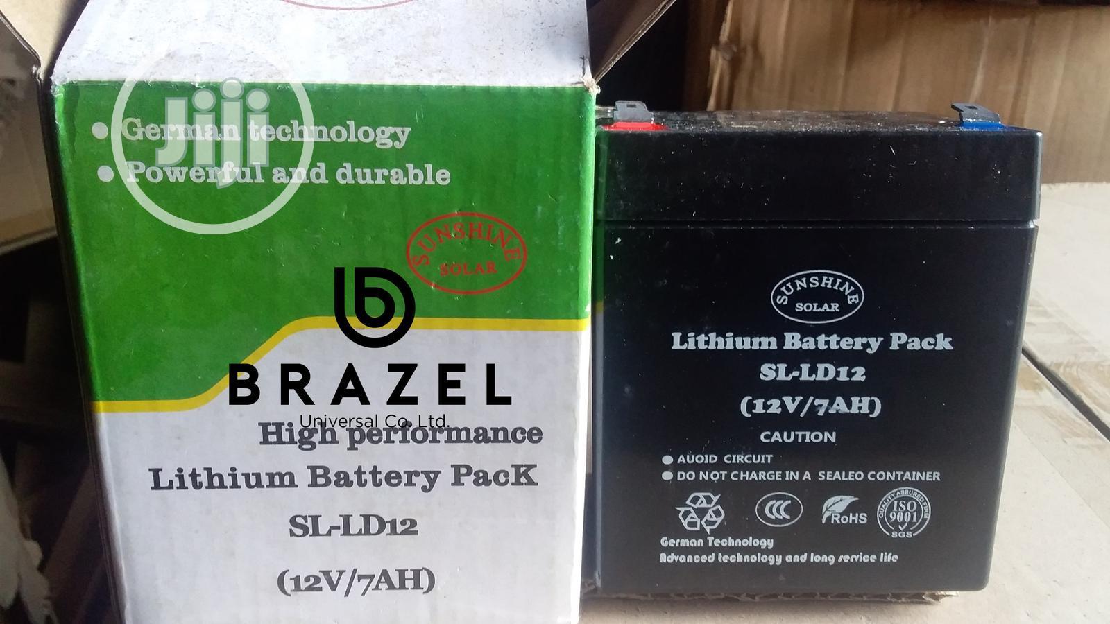 Brazel Sunshine Solar Lithium Battery Pack 12 V / 7 Amps