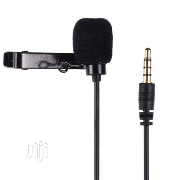 Lapel Clip On Lavalier Microphone Recording For Phone