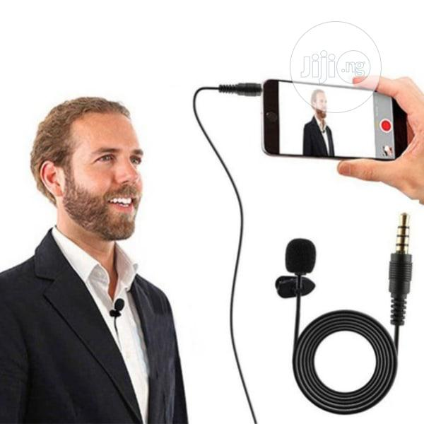 Lapel Clip On Lavalier Microphone Recording For Phone   Audio & Music Equipment for sale in Lagos Island, Lagos State, Nigeria