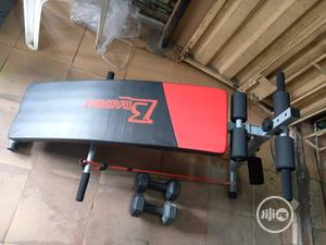 Sit Up Bench With Rope And Dumbell | Sports Equipment for sale in Lagos State, Surulere