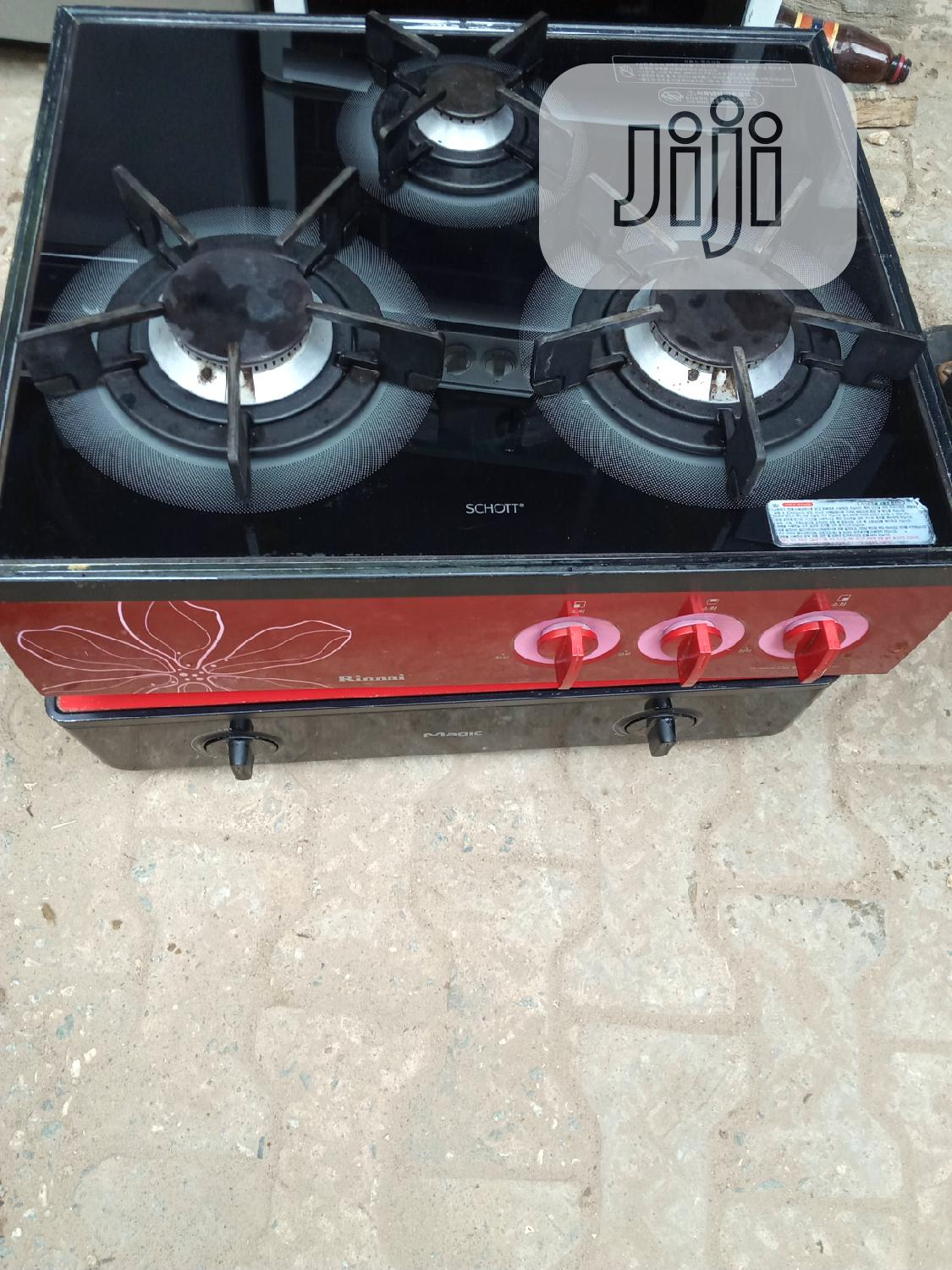 Strong Korea 3burner Table Gas Cooker With Battery Ignition