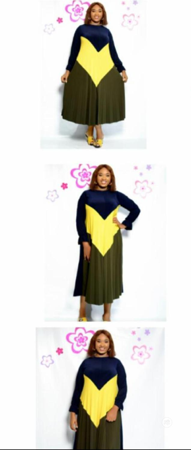 Lovely Ladies Multicolored Long Dress | Clothing for sale in Lagos Island (Eko), Lagos State, Nigeria