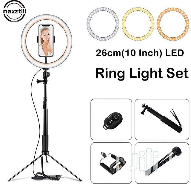 10 Inch Selfie Light Stick With Led Ring Light Tripod Stand