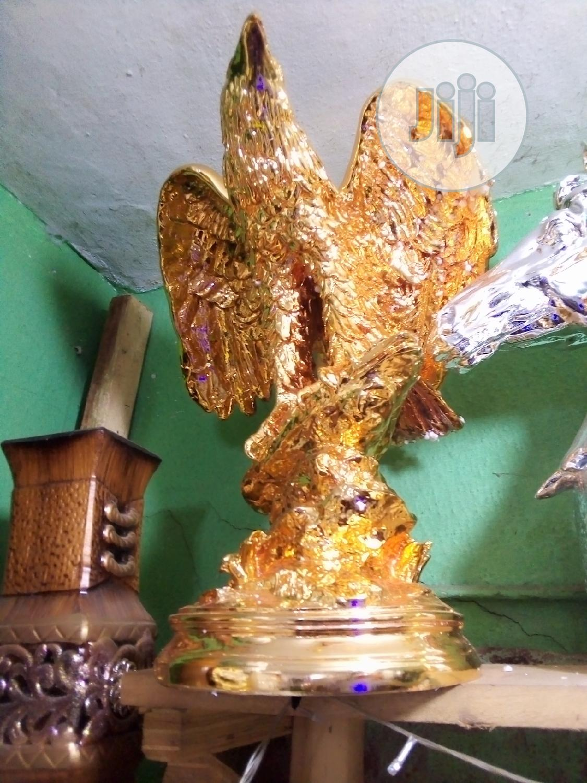 Unique Foreign Gold Coloured Eagle Home & Office Decor