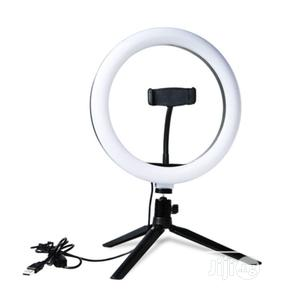 """LED Ring Light 10"""" USB With Tripod Stand And Phone Holder 