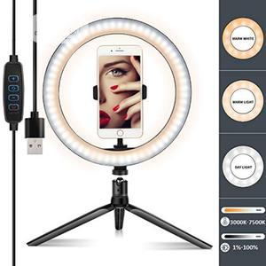 """LED Ring Light 10"""" With Tripod Stand &Cell Phone Holder 