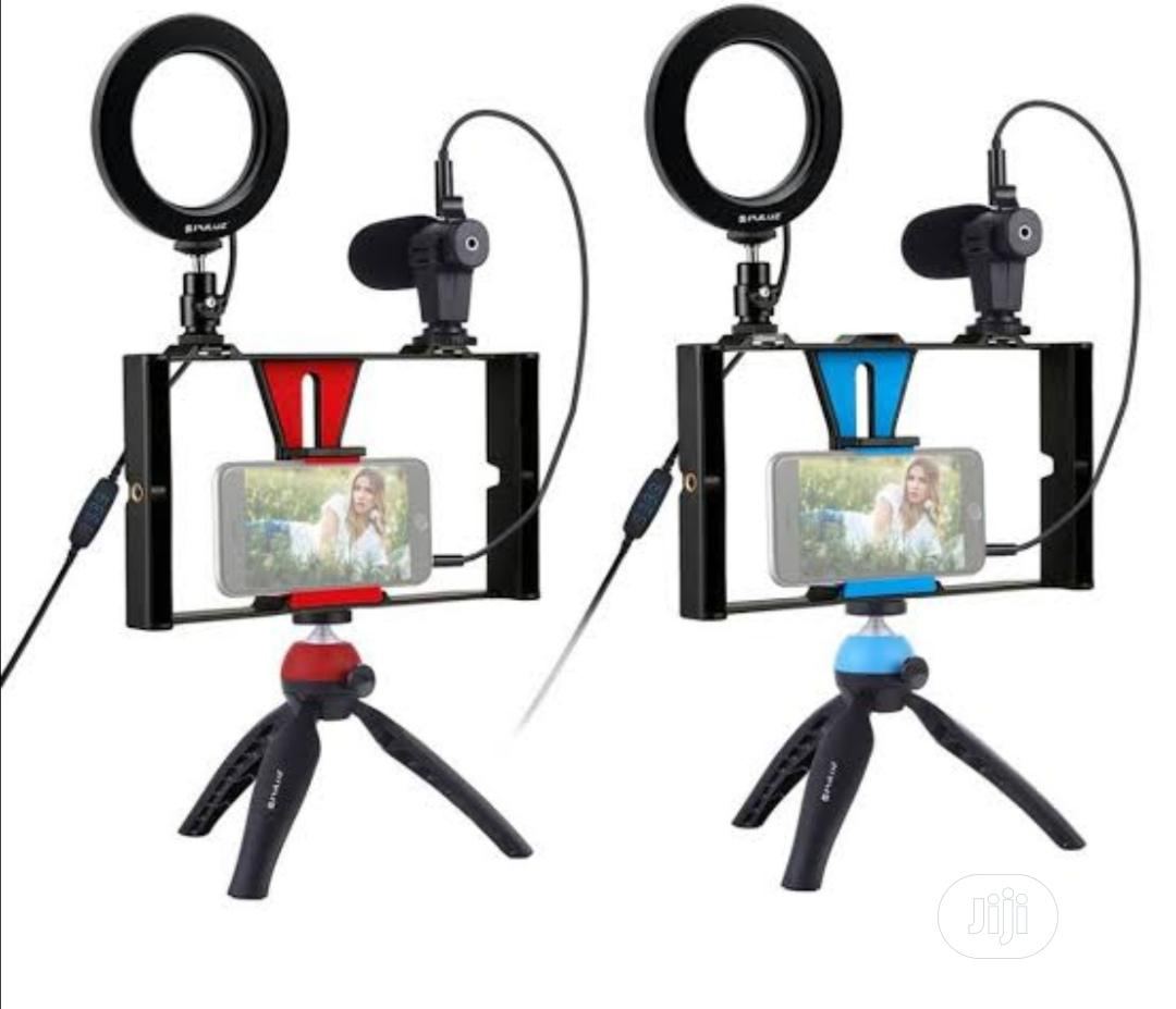 Live Video Recording Phone Selfie Ring Light Tripod