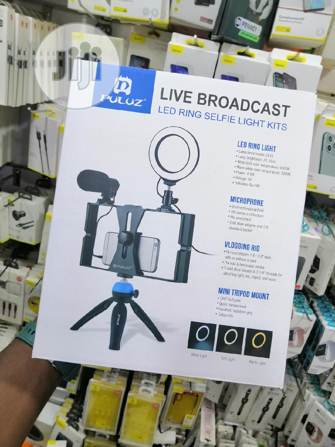 Live Video Recording Phone Selfie Ring Light Tripod | Accessories & Supplies for Electronics for sale in Ikeja, Lagos State, Nigeria