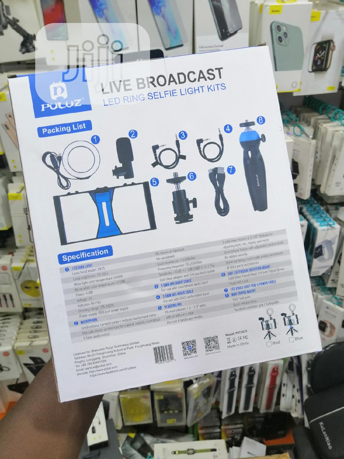 Puluz Ring LED Light Phone Tripod Stand   Accessories & Supplies for Electronics for sale in Ikeja, Lagos State, Nigeria
