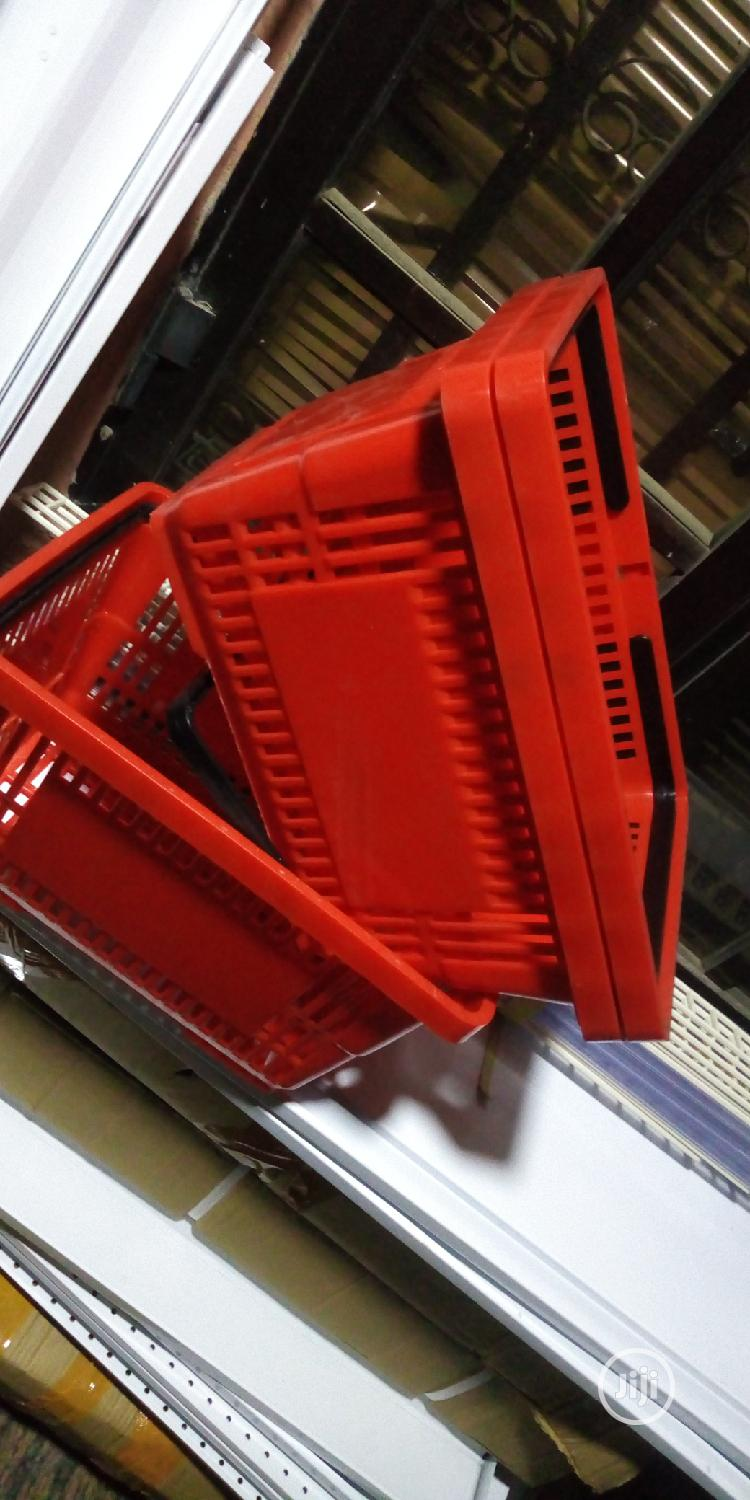 Red Colour With Black Double Handles Shopping Baskets | Store Equipment for sale in Ikorodu, Lagos State, Nigeria