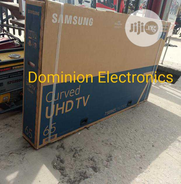 "Original Samsung 65""Inch UHD Smart 4K TV Curved 7series | TV & DVD Equipment for sale in Ojo, Lagos State, Nigeria"