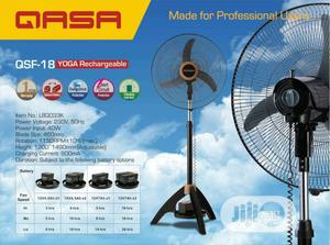Qasa Yoga 18 Inches Rechargeable Standing Fan   Home Appliances for sale in Lagos State, Ikeja