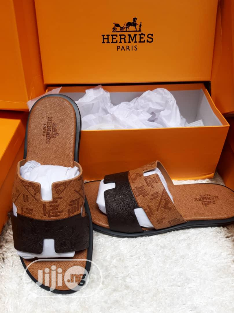 Archive: New Quality Hermes Brown Slippers