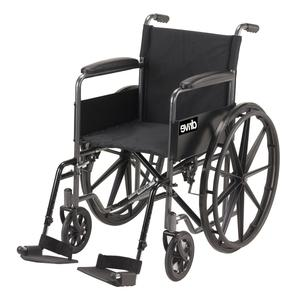 Silver Sport Wheelchair With Half Fold Back (18 Inches)   Medical Supplies & Equipment for sale in Abuja (FCT) State, Wuye