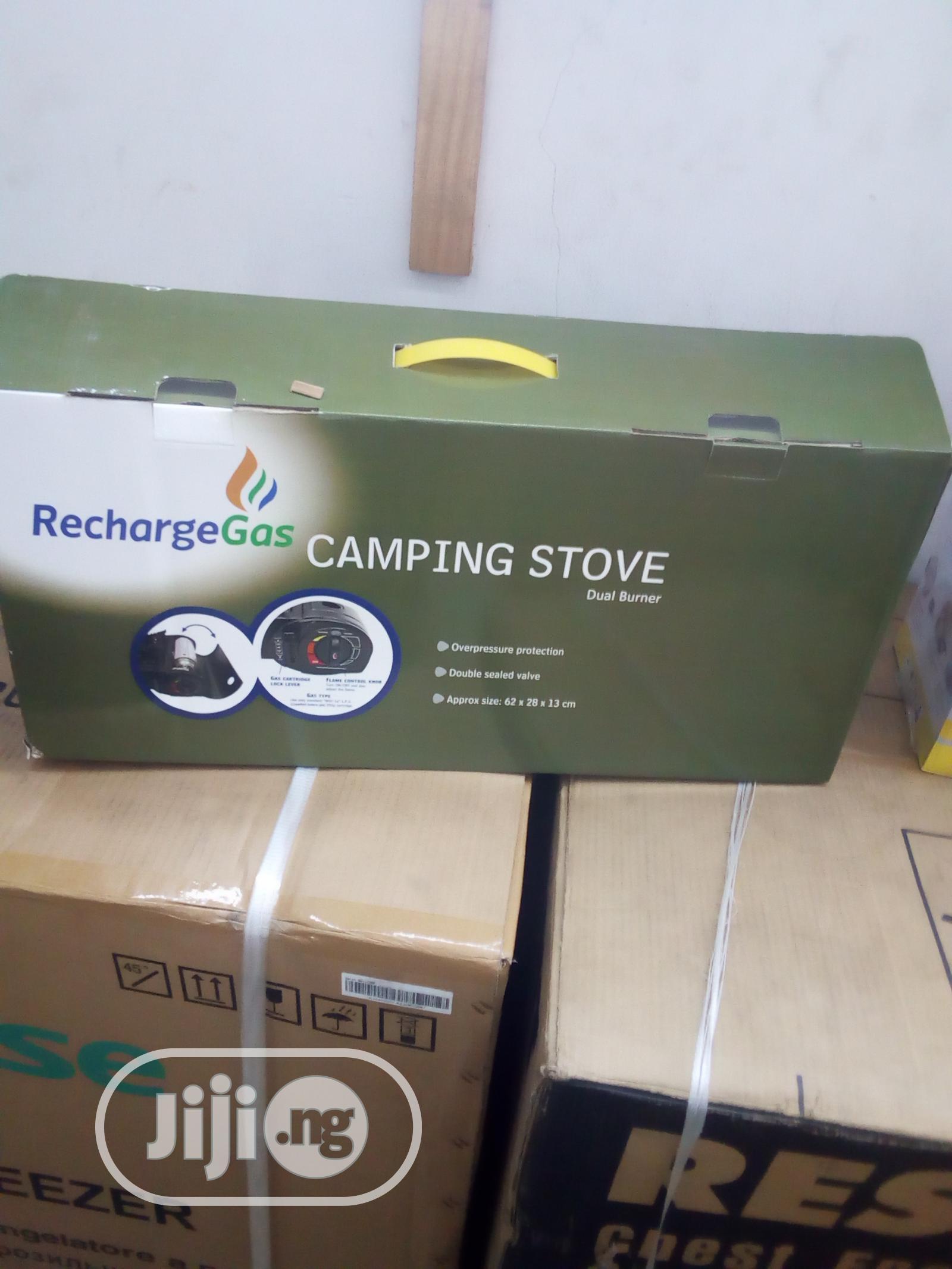Recharge Gas Camping Stove Dual Burner