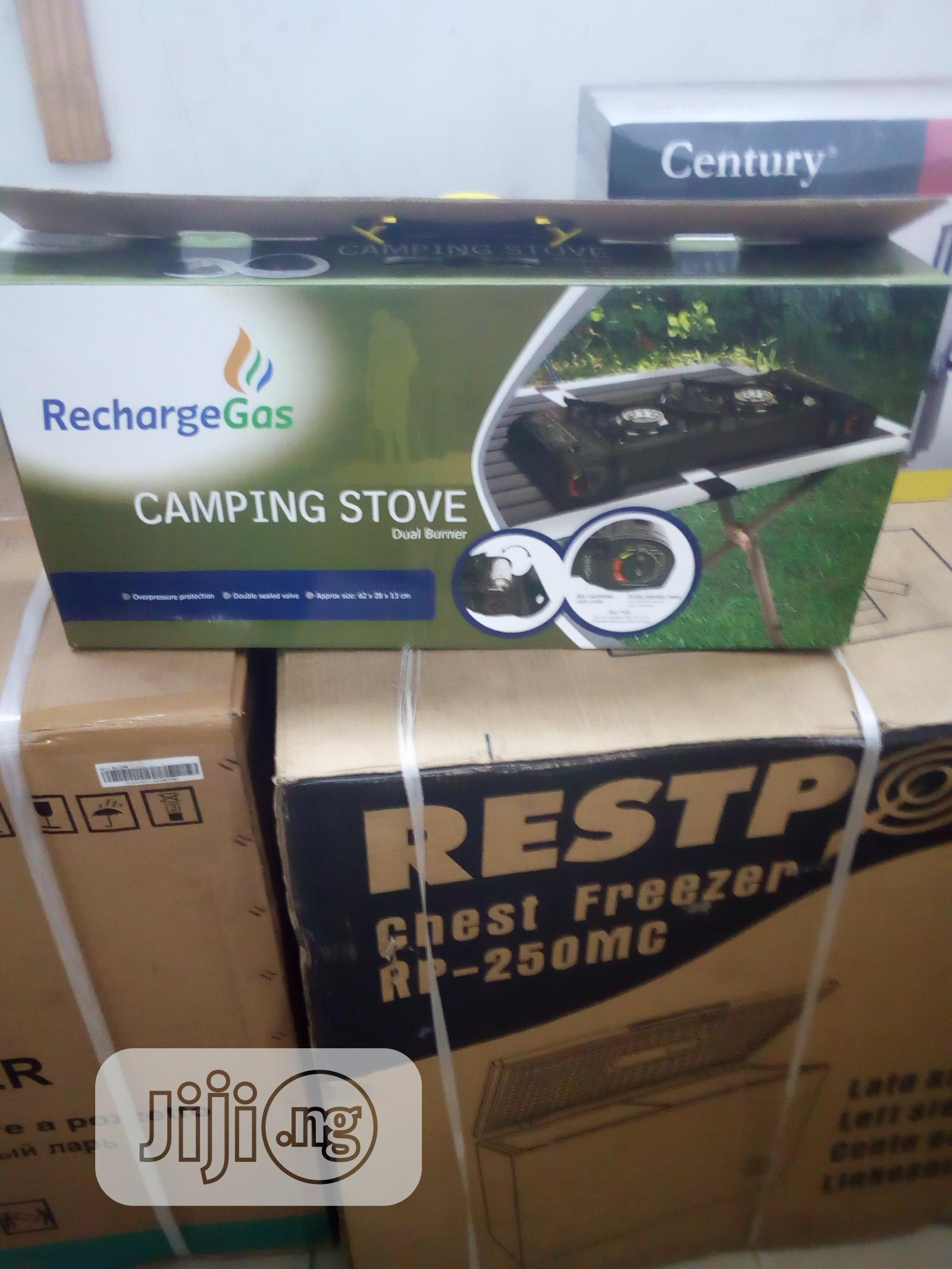 Recharge Gas Camping Stove Dual Burner | Kitchen Appliances for sale in Benin City, Edo State, Nigeria