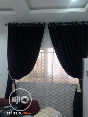 Plain Black Curtain | Home Accessories for sale in Lagos State, Ojo