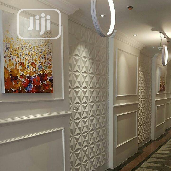 Tv Wall. Pop Ceiling, 3d Panel. Wallpaper. E.T. C | Building & Trades Services for sale in Ikeja, Lagos State, Nigeria
