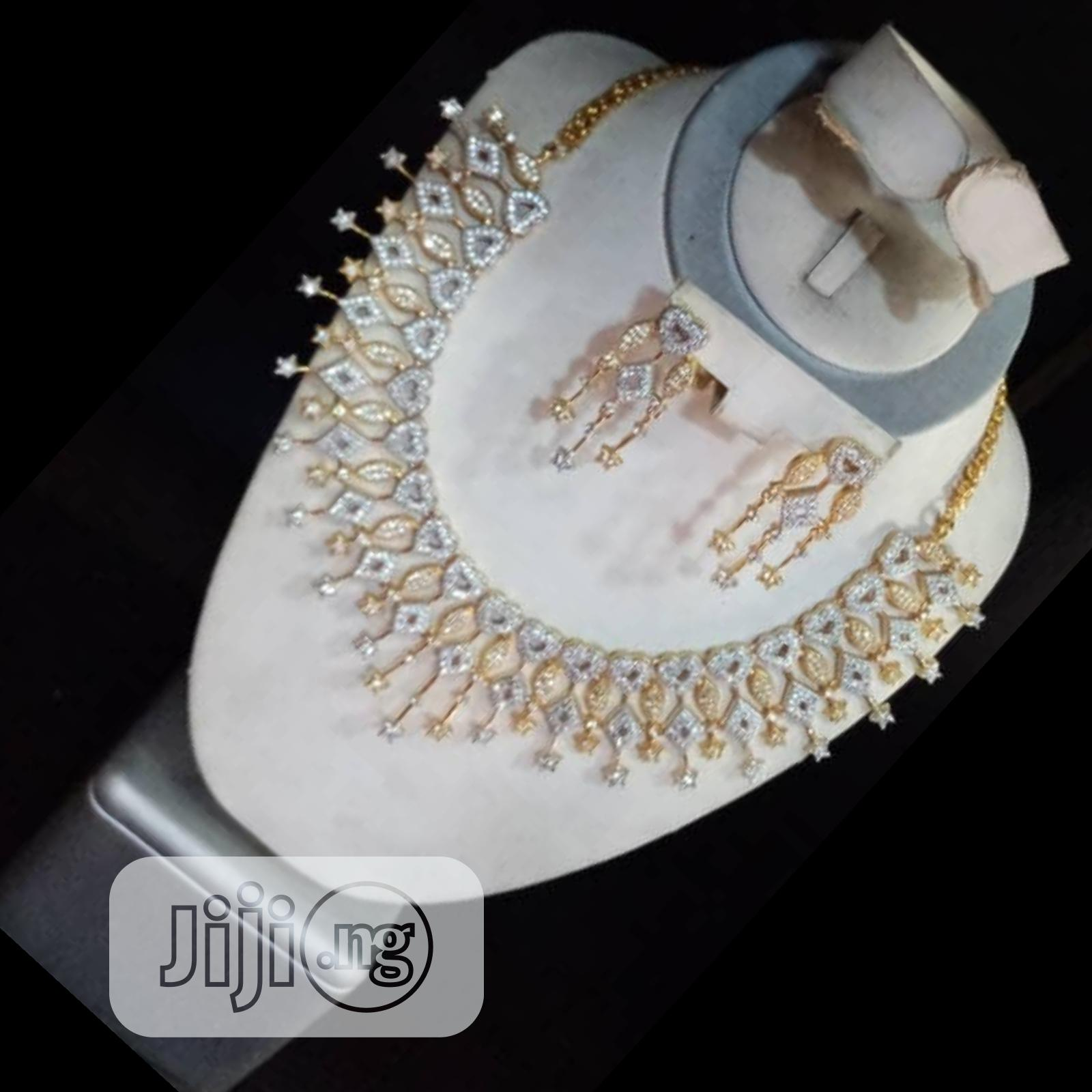 Cubic Zirconia Indian Set 2 Pieces | Jewelry for sale in Gbagada, Lagos State, Nigeria
