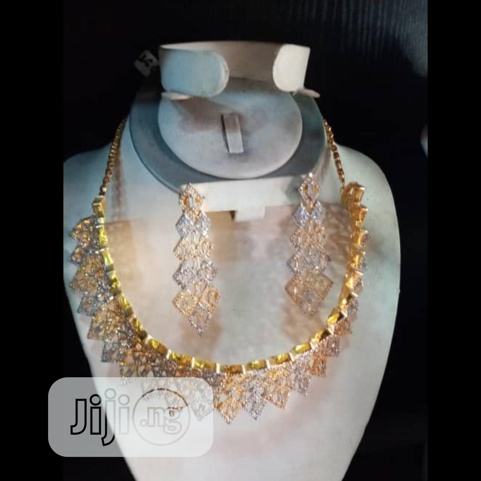 Cubic Zirconia Korea Set Of (2) Two Pieces Curve | Jewelry for sale in Gbagada, Lagos State, Nigeria