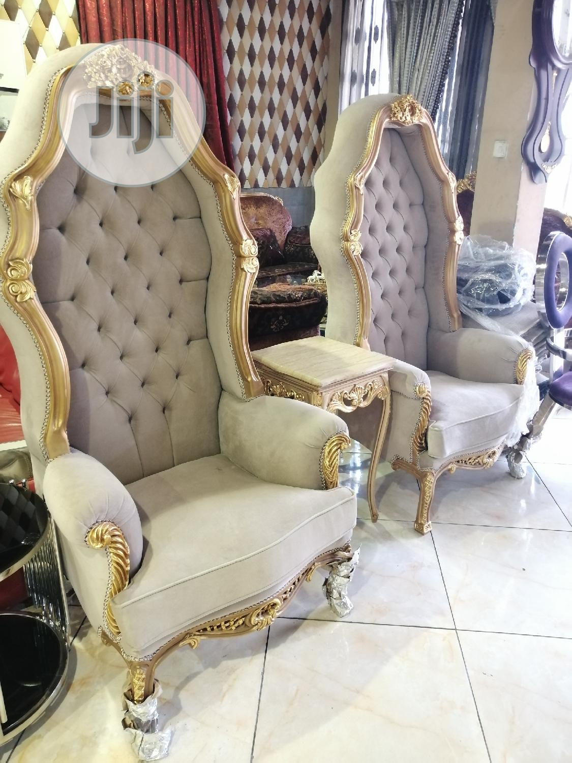 Dual Royal King And Queen Chair | Furniture for sale in Ibeju, Lagos State, Nigeria