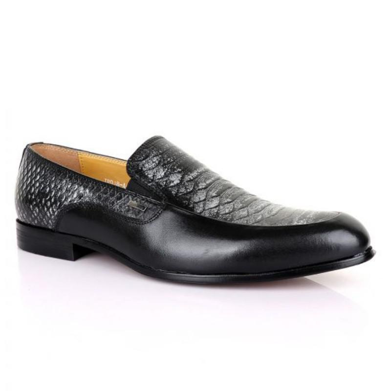 Archive: Terry Taylors Classic Black And Grey Leather Shoe