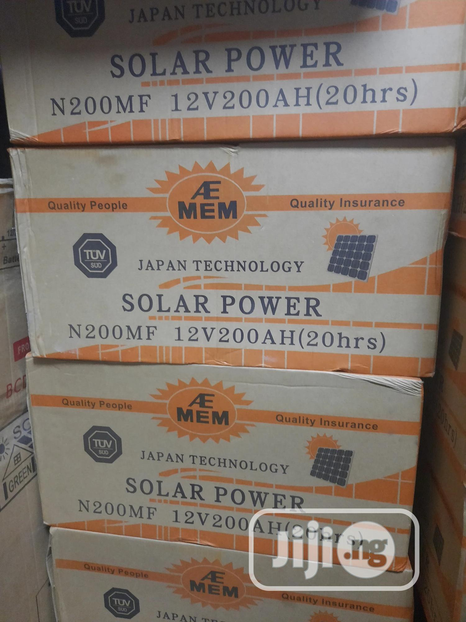 A/E MEN Strong Battery 12v/200ah | Solar Energy for sale in Ojo, Lagos State, Nigeria