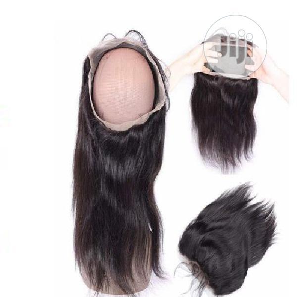 360 Cut Degree Human Hair Closure( All Round) Color 1b