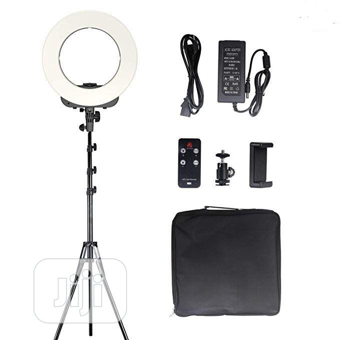 14 Inch LED Ring Light, Dimmable 41W 5500k Output Makeup