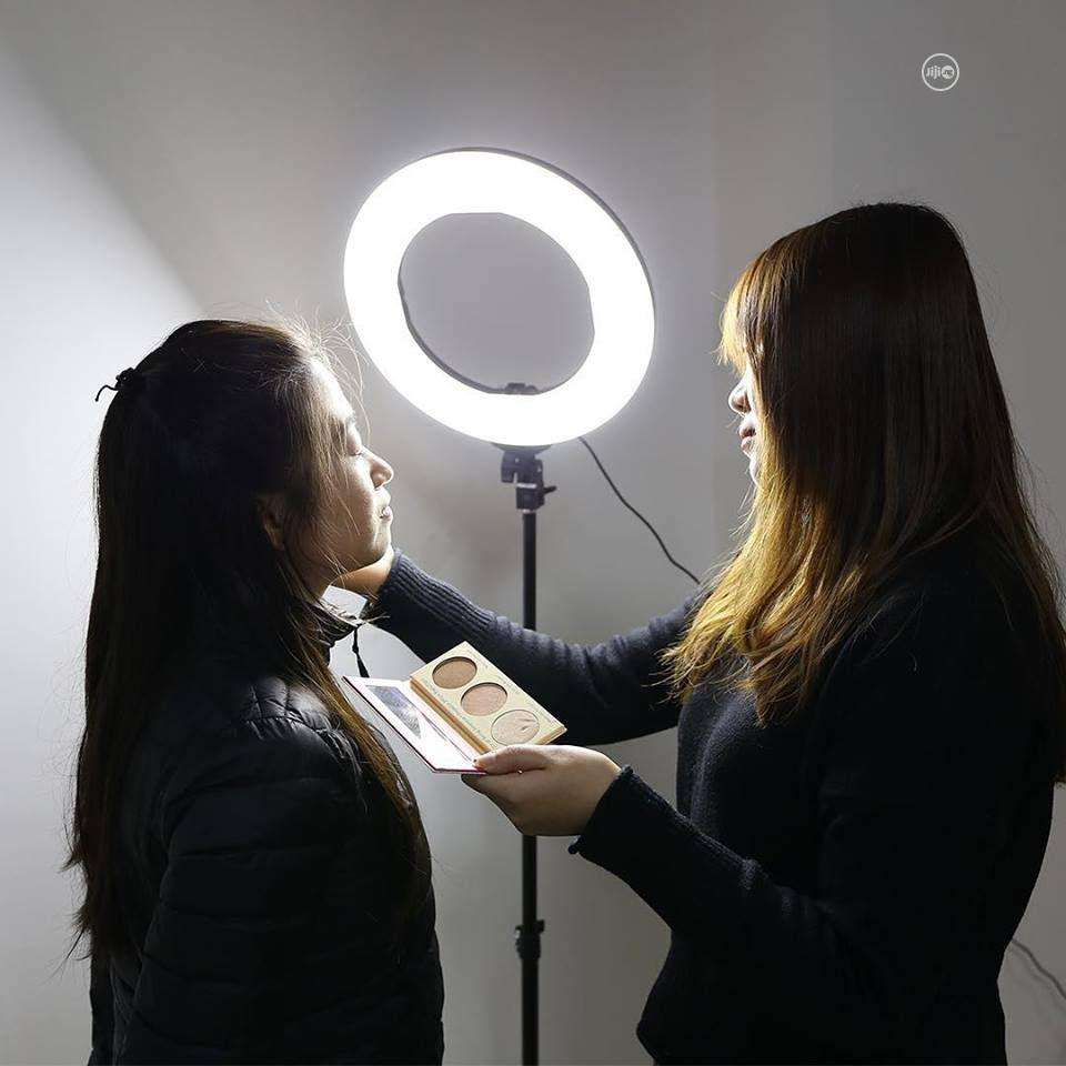 14 Inch LED Ring Light, Dimmable 41W 5500k Output Makeup | Accessories & Supplies for Electronics for sale in Ikeja, Lagos State, Nigeria