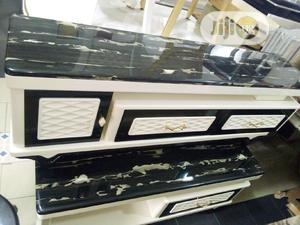 Good Quality Tv Shelf And Table Marble Top   Furniture for sale in Lagos State, Amuwo-Odofin